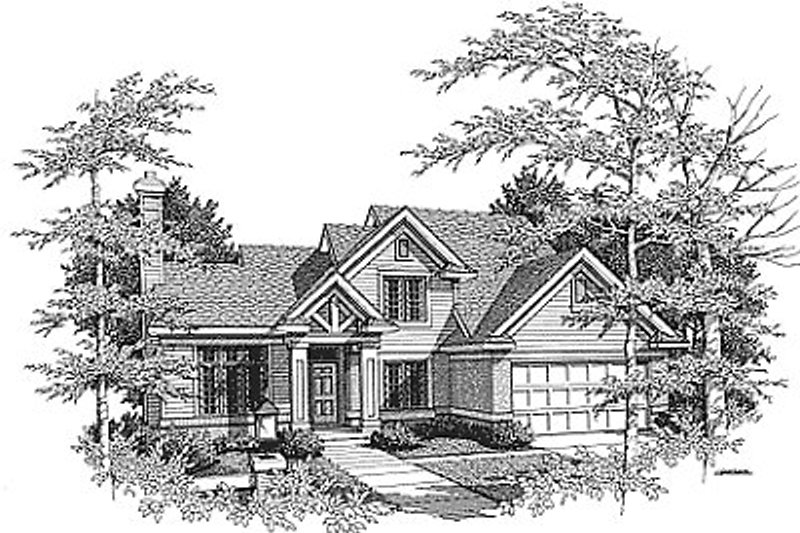 Traditional Exterior - Front Elevation Plan #70-290
