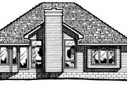 Traditional Style House Plan - 2 Beds 2 Baths 1499 Sq/Ft Plan #20-142 Exterior - Rear Elevation