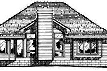 Home Plan Design - Traditional Exterior - Rear Elevation Plan #20-142