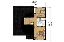 Contemporary Floor Plan - Upper Floor Plan Plan #25-4296