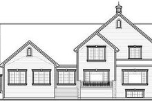 Home Plan - Traditional Exterior - Rear Elevation Plan #23-827