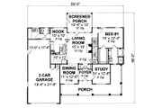 Country Style House Plan - 3 Beds 2.5 Baths 1881 Sq/Ft Plan #513-2051 Floor Plan - Main Floor Plan