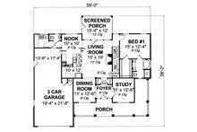 Country Floor Plan - Main Floor Plan Plan #513-2051