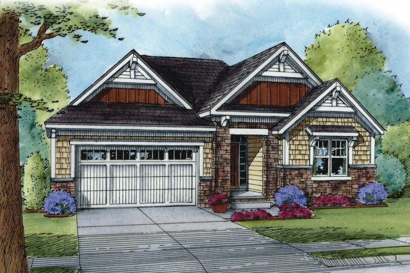 Home Plan - Cottage Exterior - Front Elevation Plan #20-2187