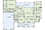 Country Style House Plan - 4 Beds 3 Baths 2373 Sq/Ft Plan #17-2143 Floor Plan - Main Floor Plan