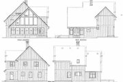 Contemporary Style House Plan - 3 Beds 2.5 Baths 1795 Sq/Ft Plan #47-367 Exterior - Rear Elevation
