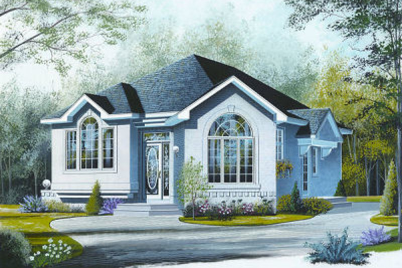 Modern Exterior - Front Elevation Plan #23-700 - Houseplans.com