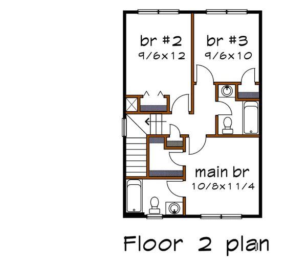 Country Floor Plan - Upper Floor Plan #79-271