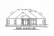 Home Plan - Ranch Exterior - Rear Elevation Plan #20-2330