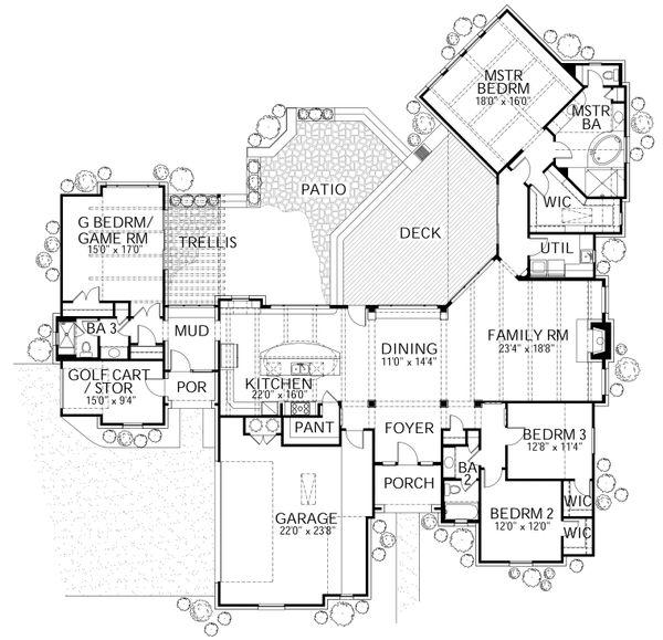 Dream House Plan - European Floor Plan - Main Floor Plan #80-177