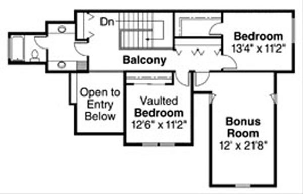 Floor Plan - Upper Floor Plan Plan #124-716