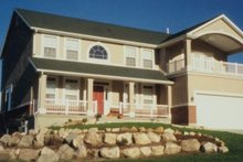 Home Plan - Country Exterior - Front Elevation Plan #5-185