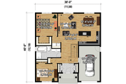 Country Style House Plan - 2 Beds 1 Baths 1197 Sq/Ft Plan #25-4305