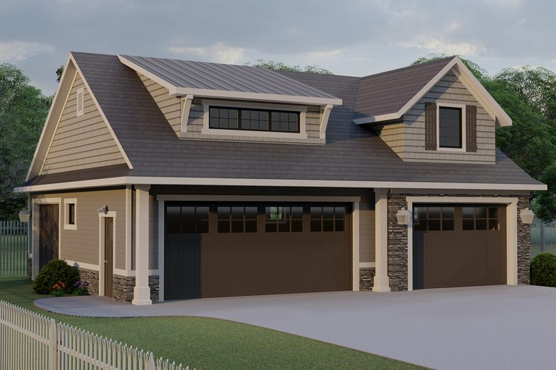 Craftsman Style House Plan - 0 Beds 0 Baths 1312 Sq/Ft Plan #1064-20 Exterior - Front Elevation