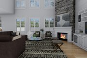 Craftsman Style House Plan - 3 Beds 2.5 Baths 7676 Sq/Ft Plan #1060-53 Interior - Family Room