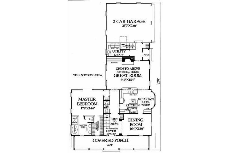 Southern Floor Plan - Main Floor Plan Plan #137-208