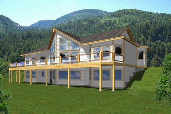 Contemporary Exterior - Front Elevation Plan #112-138