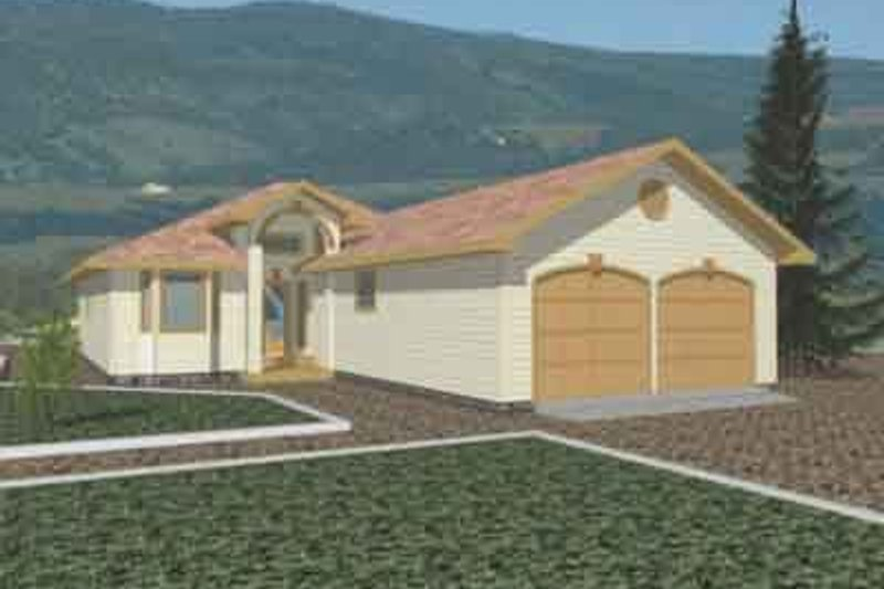 Traditional Exterior - Front Elevation Plan #117-231 - Houseplans.com