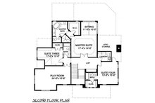 Craftsman Floor Plan - Upper Floor Plan Plan #413-107