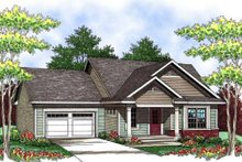 Home Plan - Ranch Exterior - Front Elevation Plan #70-906