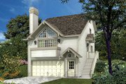 Traditional Style House Plan - 3 Beds 2 Baths 1332 Sq/Ft Plan #57-300 Exterior - Front Elevation