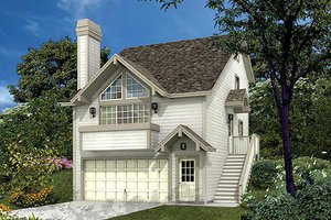 Traditional Exterior - Front Elevation Plan #57-300