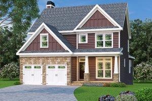 Tudor Exterior - Front Elevation Plan #419-139