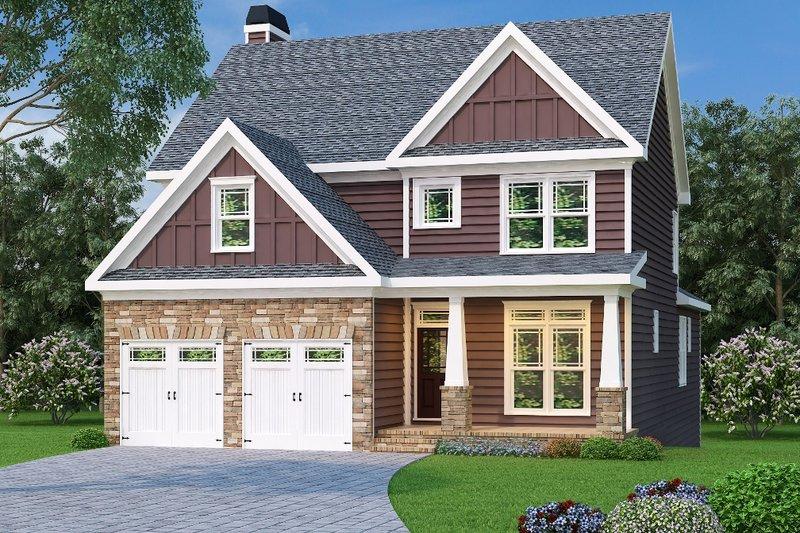Dream House Plan - Tudor Exterior - Front Elevation Plan #419-139