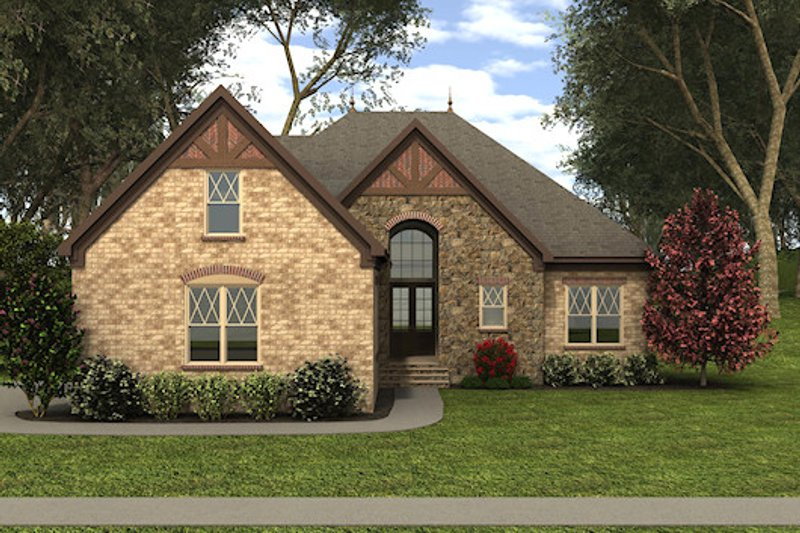 European Exterior - Front Elevation Plan #413-875