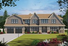 House Plan Design - Colonial Exterior - Front Elevation Plan #20-2442