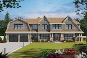 House Blueprint - Colonial Exterior - Front Elevation Plan #20-2442