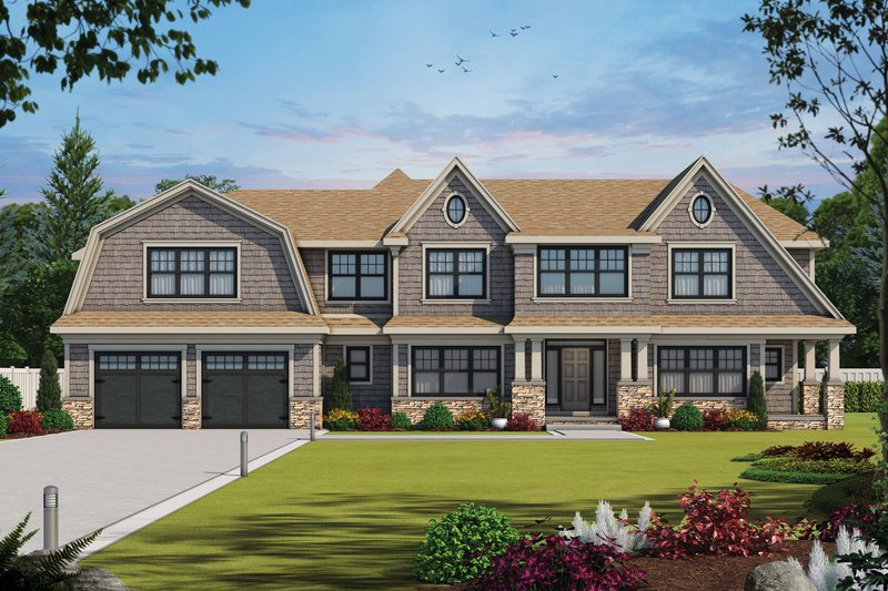 Architectural House Design - Colonial Exterior - Front Elevation Plan #20-2442