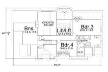 Colonial Floor Plan - Upper Floor Plan Plan #119-137