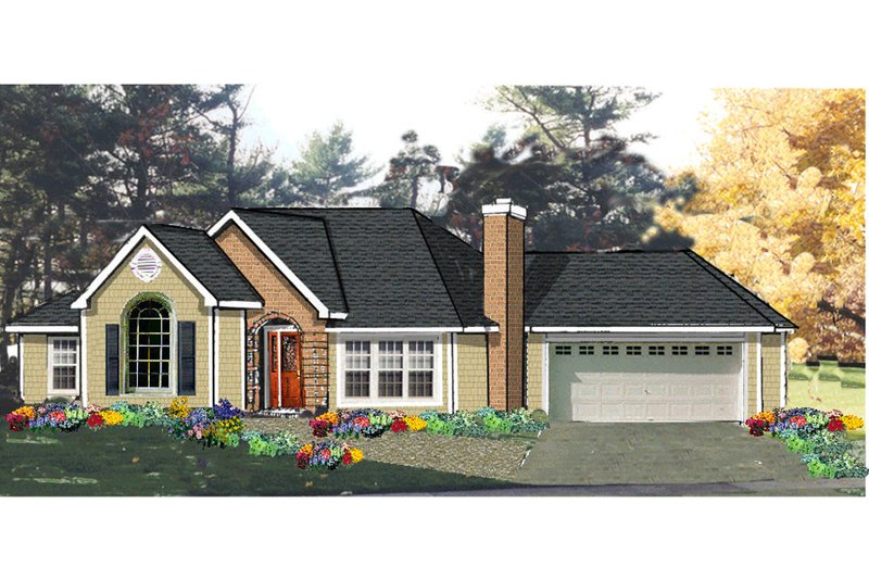Home Plan - Traditional Exterior - Front Elevation Plan #3-337