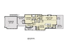 Contemporary Floor Plan - Main Floor Plan Plan #1070-84