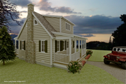Cottage Style House Plan - 3 Beds 2 Baths 983 Sq/Ft Plan #489-5 Exterior - Other Elevation