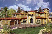 Mediterranean Style House Plan - 5 Beds 8.5 Baths 7893 Sq/Ft Plan #420-198 Exterior - Front Elevation