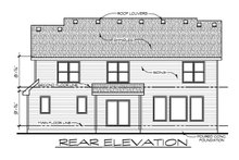 Architectural House Design - Craftsman Exterior - Rear Elevation Plan #20-2400