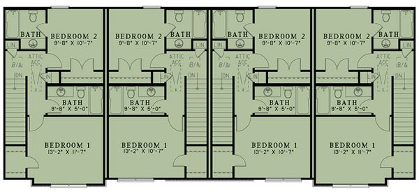 Country Floor Plan - Upper Floor Plan Plan #17-3421