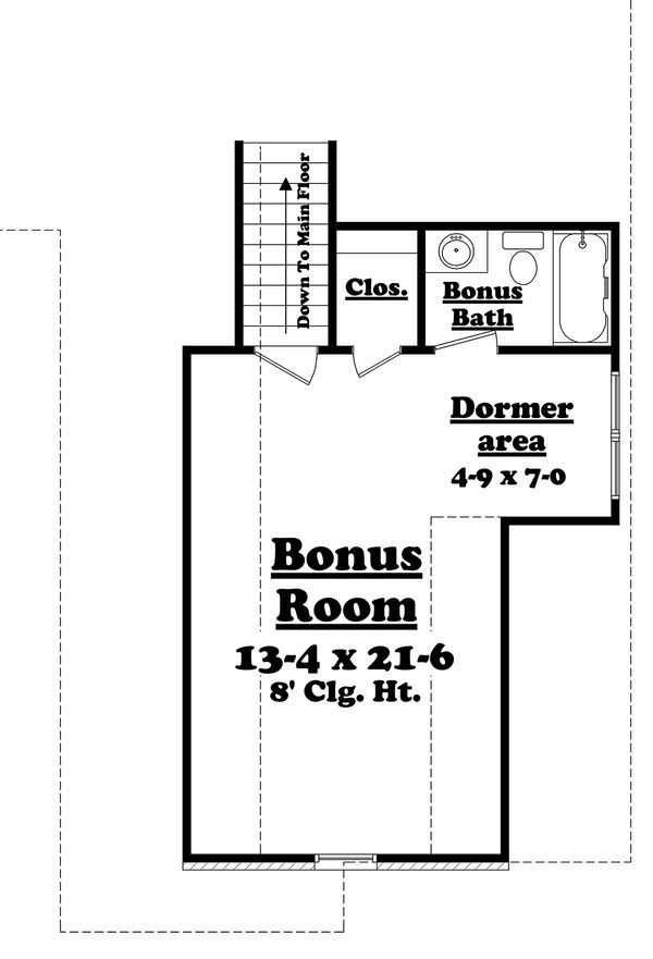 European Floor Plan - Upper Floor Plan Plan #430-119