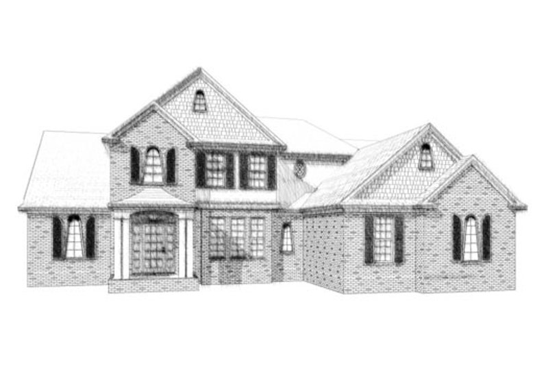 Traditional Style House Plan - 4 Beds 4.5 Baths 2780 Sq/Ft Plan #63-206 Exterior - Front Elevation