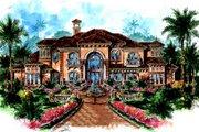 Mediterranean Style House Plan - 5 Beds 5.5 Baths 6780 Sq/Ft Plan #27-216