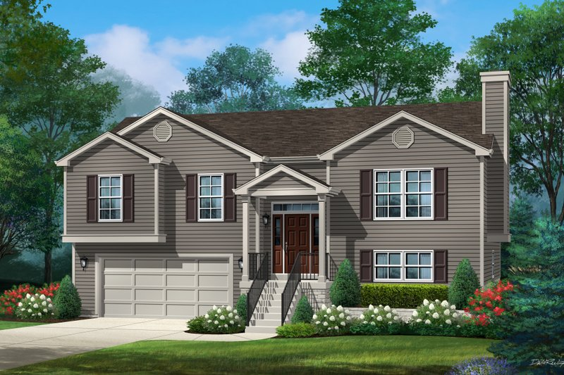 Traditional Style House Plan - 3 Beds 2.5 Baths 2156 Sq/Ft Plan #22-629