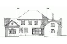 Colonial Exterior - Rear Elevation Plan #137-200