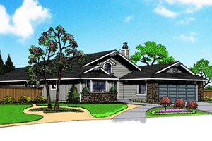 Exterior - Front Elevation Plan #515-35