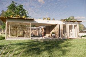 Modern Exterior - Front Elevation Plan #897-2