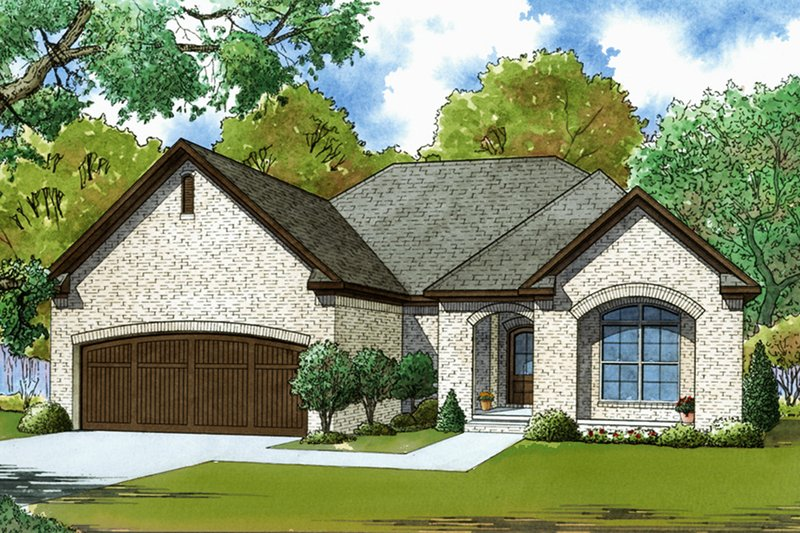 Traditional Style House Plan - 3 Beds 2 Baths 1417 Sq/Ft Plan #923-61 Exterior - Front Elevation
