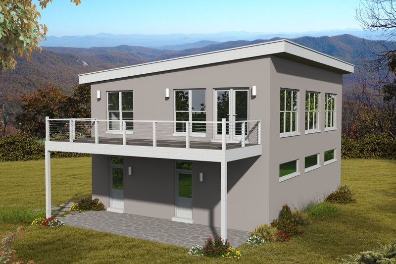 Architectural House Design - Contemporary Exterior - Front Elevation Plan #932-299