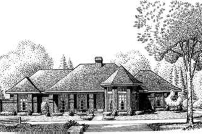 European Exterior - Front Elevation Plan #410-386 - Houseplans.com