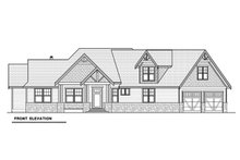 Dream House Plan - Craftsman Exterior - Front Elevation Plan #1070-15